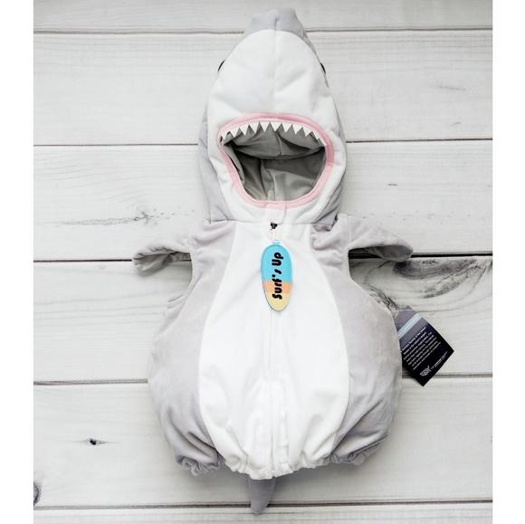 Baby Shark Plush Zip-Up Bubble Costume 3-6 Mo NWT